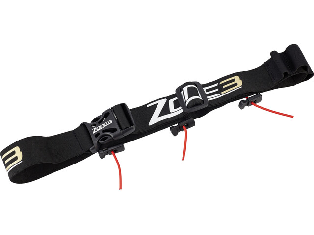 Zone3 Race Belt with Gel Loops Black/Gold